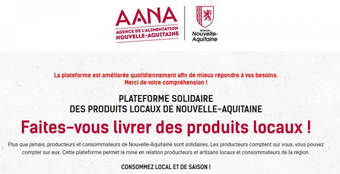 Plus que jamais, producteurs et consommateurs de Nouvelle-Aquitaine sont solidaires. Les producteurs comptent sur vous, vous pouvez compter sur eux. Cette plateforme permet la mise en relation producteurs, artisans locaux et consommateurs de la région. Fruits et légumes de saison, viandes, poissons, produits laitiers… mais aussi gourmandises et pâtisseries locales de Nouvelle-Aquitaine ...